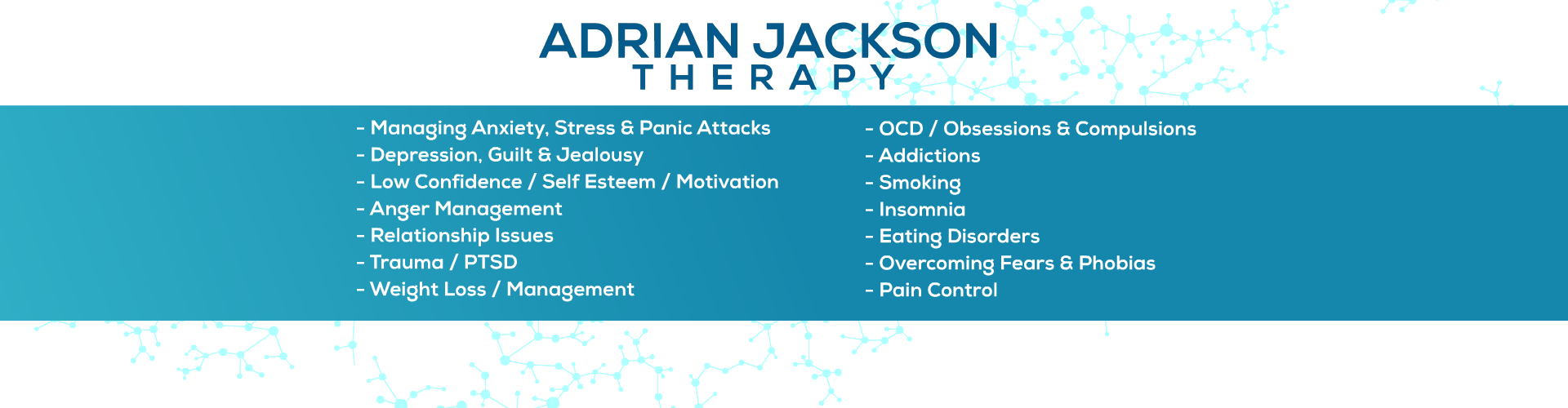 Adrian Jackson Therapy | Hypnotherapist in Harrow|Hillingdon|Hertfordshire|Hayes|Ruislip|Uxbridge|Northwood|Pinner